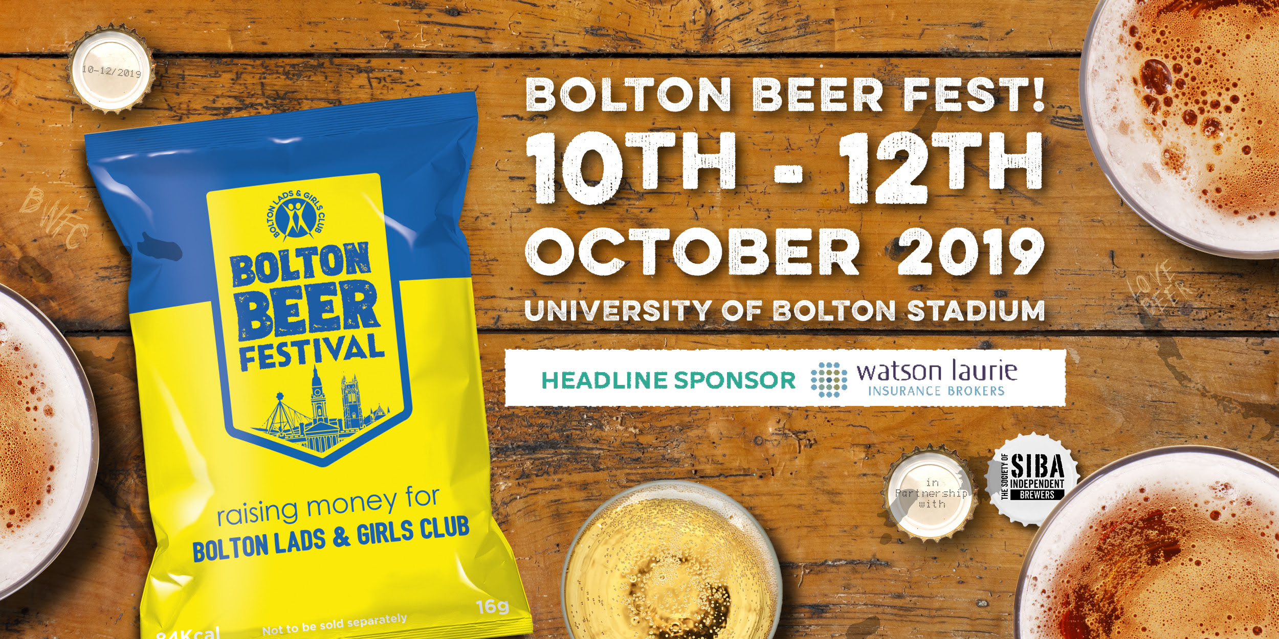 Bolton Beer Festival 2019 Thu 10th – Sat 12th October 2019